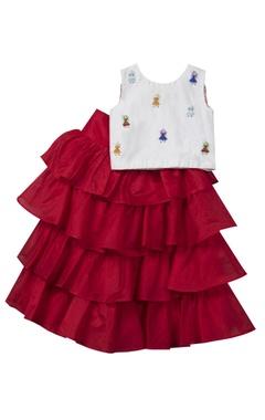 Sugar Candy Ruffled lehenga skirt with top