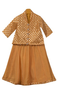 Sugar Candy Button down top with lehenga skirt