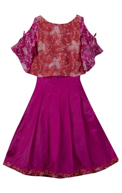 Sugar Candy Batik print top with pleated skirt