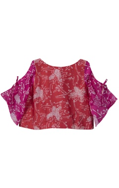 Batik print top with pleated skirt