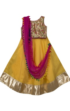 Sugar Candy Embroidered blouse with lehenga and dupatta