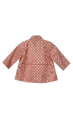 Button down top with lehenga skirt