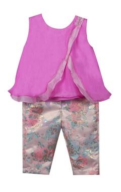 Sugar Candy Bamber silk top with brocade pants