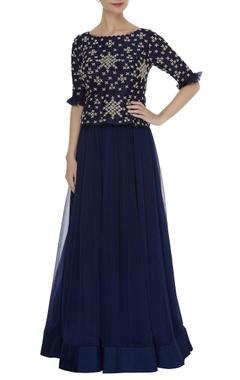 Zardosi & thread hand embroidered gown