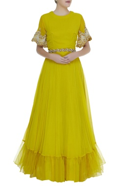 Bhumika Sharma Embroidered sleeves gown