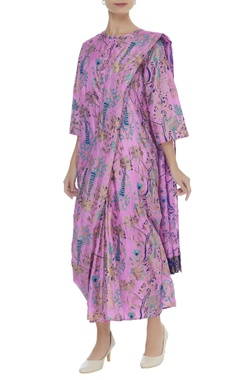 Hand painted sari dress