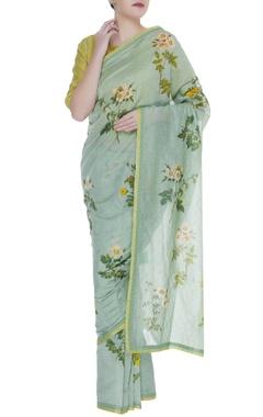 Floral printed sari