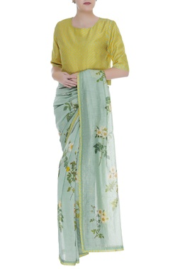 Payal Pratap Diagonal print blouse