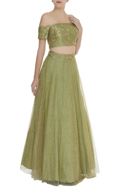 Mishru Embroidered lehenga with off shoulder blouse