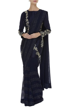 Mishru Embroidered sari with long blouse