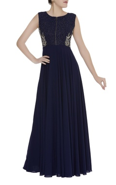 Mishru Embroidered georgette gown