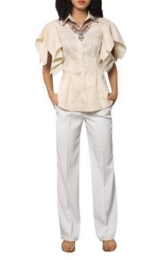 Reynu Taandon Button down linen shirt