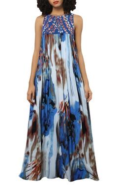 Reynu Taandon Digital print maxi dress