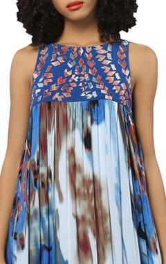 Digital print maxi dress