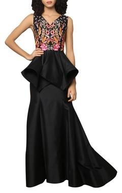 Fit & flared long skirt