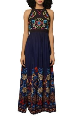 Reynu Taandon Poly crepe maxi dress