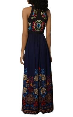 Poly crepe maxi dress