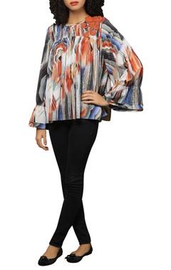 Reynu Taandon Marble print full sleeves top