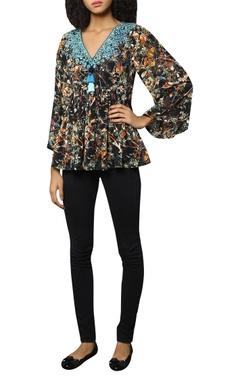 Reynu Taandon Multicolored georgette top