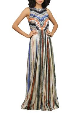 Reynu Taandon Sleeveless printed maxi dress
