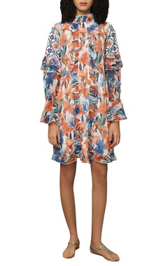 Reynu Taandon Full sleeves frill dress