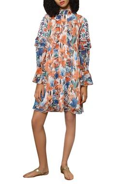 Full sleeves frill dress