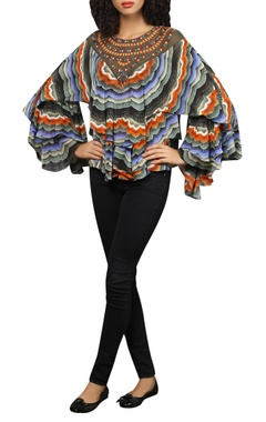Reynu Taandon Embroidered frill top
