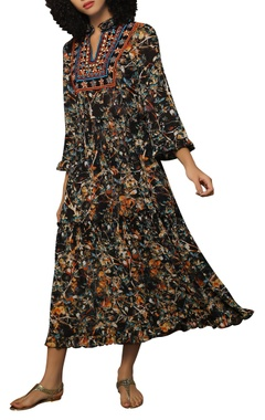 Reynu Taandon Printed midi dress