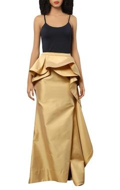 Taffeta silk maxi skirt