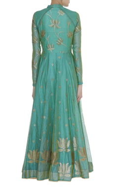 Anarkali Kurta with Tree Motif Dupatta