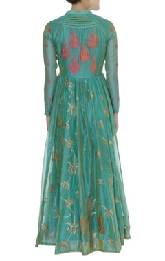 Anarkali Kurta with Fern Motif Dupatta