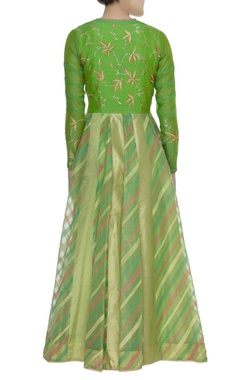 Anarkali Kurta with Embroidered Dupatta