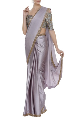 Manish Malhotra Sequin embroidered border sari with blouse