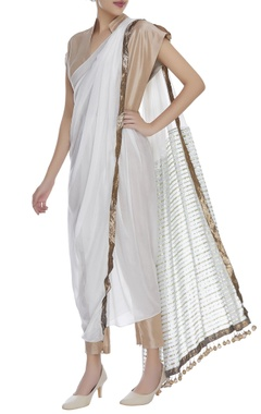 Manish Malhotra Draped jumpsuit with fringes