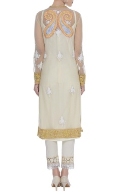 Kashmiri embroidered kurta with pants