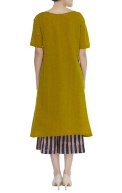 Embroidered kurta with culottes