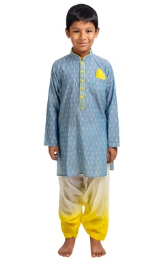 Printed full sleeves kurta with patiala