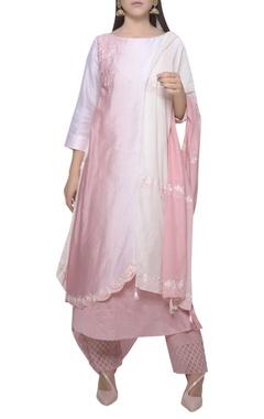 Mandira Wirk Embroidered kurta with pants and dupatta