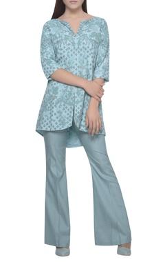 Mandira Wirk Embroidered jacket kurta with pants