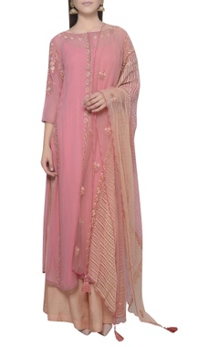 Mandira Wirk Embroidered kurta & palazzo set