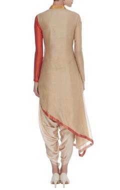 Asymmetric sequin embroidered kurta set