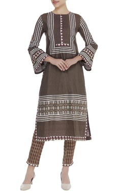Poonam Dubey Printed kurta with checkered pant