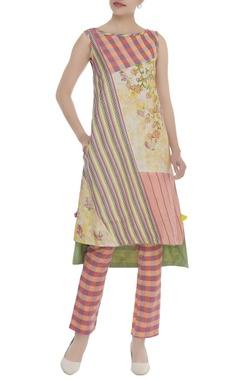 Poonam Dubey Printed checkered tunic