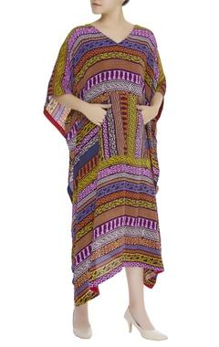 Tribal printed kaftan dress