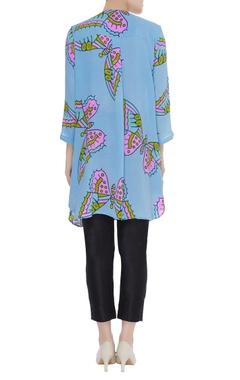 Vivacious blue printed tunic