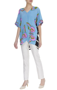 Butterfly printed short tunic