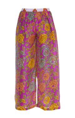 Floral printed flared pant