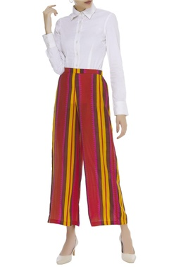 Striped flared pant