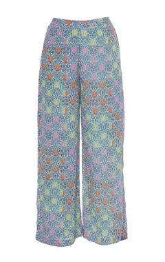 Multicolored printed pant