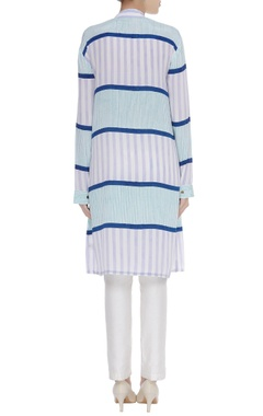 Blue striped tunic